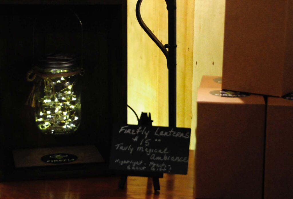 Firefly Lantern table display